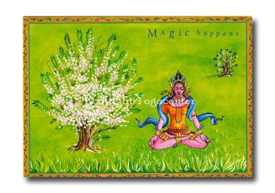 Magic happens - Yogavykort