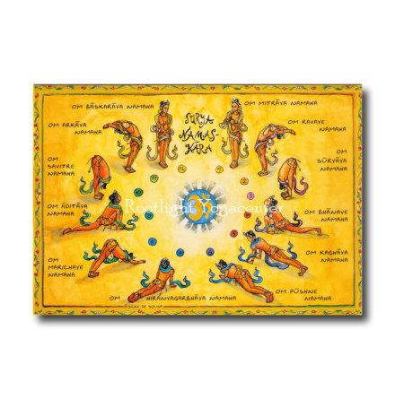 Surya Namaskar - Yogavykort